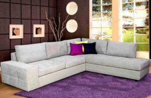 Γωνιακός καναπές σε μοντέρνα σχεδίαση