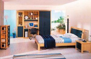 Παιδικό – Εφηβικό δωμάτιο σε φυσικό δρυ