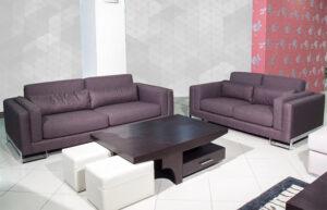 Διθέσιος και τριθέσιος καναπές με inox βάση Ιταλικής κατασκευής