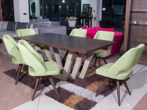 Τραπέζι ανοιγόμενο με 6 καρέκλες Τραπεζαρίες Έπιπλο Καπατζά