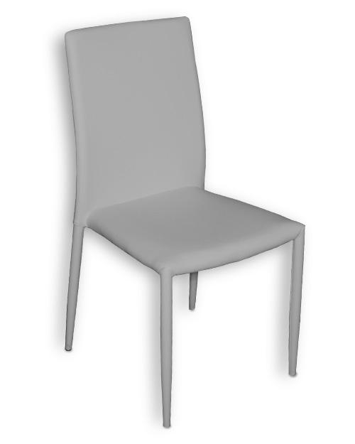 Γκρι Καρέκλα Κουζίνας με Τεχνόδερμα Καρέκλες Κουζίνας Έπιπλο Καπατζά