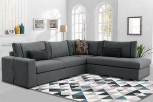 Γωνιακό σαλόνι σε μοντέρνο σχεδιασμό με αδιάβροχο ύφασμα Σαλόνια Έπιπλο Καπατζά