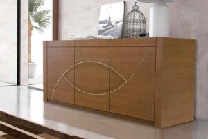 Μοντέρνος μπουφές τραπεζαρίας σαλονιού σε ξύλο δρυός
