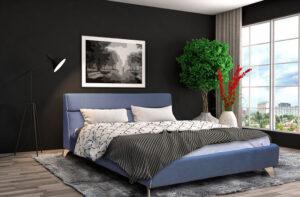 Ντυμένο κρεβάτι υπέρδιπλο με διακοσμητικό φιτιλάκι Έπιπλο Καπατζά