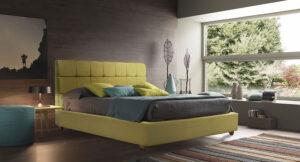 Ντυμένο κρεβάτι υπέρδιπλο με καπιτονέ κεφαλάρι Έπιπλο Καπατζά