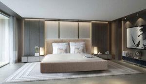 Υπέρδιπλο κρεβάτι ντυμένο με αδιάβροχο ύφασμα Έπιπλο Καπατζά