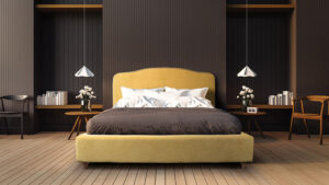 Υπέρδιπλο ντυμένο κρεβάτι με αδιάβροχο ύφασμα Έπιπλο Καπατζά