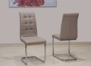 Μοντέρνα καρέκλα τραπεζαρίας με καπιτονέ