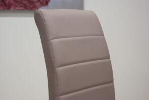Μοντέρνα καρέκλα τραπεζαρίας με οικολογικό τεχνόδερμα