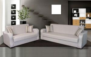 Διθέσιος και τριθέσιος καναπές με αποθηκευτικό χώρο