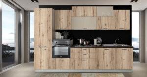 Έπιπλο Καπατζα Έτοιμη κουζίνα με ηλεκτρικές συσκευές