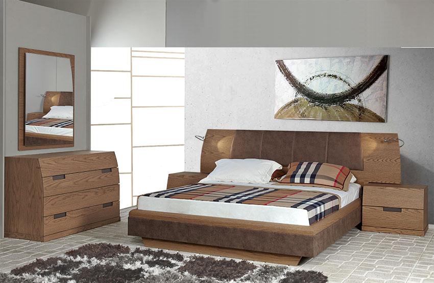 Υπνοδωμάτιο Κρεβατοκάμαρα σετ σε ξύλο δρυός