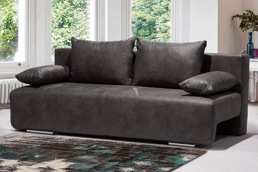 Δερμάτινος καναπές κρεβάτι Έπιπλο Καπατζά