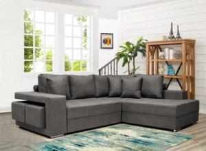 Γωνιακό σαλόνι με δυο σκαμπώ