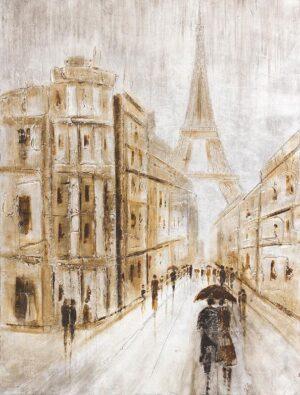 Ελαιογραφία Πύργος του Άιφελ σε καμβά