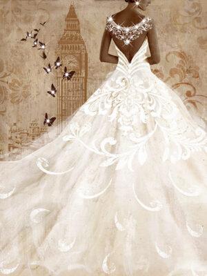 Πίνακας Γυναικεία Φιγούρα με άσπρο φόρεμα
