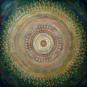 Πίνακας με τρουκς σε ασημένιο καμβά