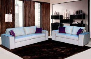 Σετ σαλονιού διθέσιος και τριθέσιος καναπές με γαλλικό φιτίλι