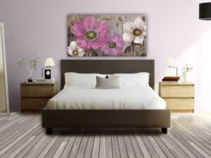 Κρεβάτι Διπλό με Ορθοπαιδικές Τάβλες