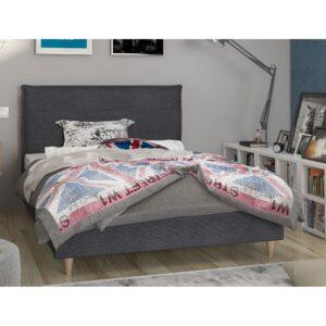 Κρεβάτι ημίδιπλο επενδυμένο