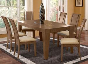 Μοντέρνα τραπεζαρία με 6 καρέκλες