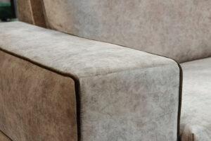 Γωνιακός καναπές με βελούδινο ύφασμα