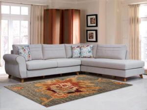 Καναπές γωνία σε νεοκλασικό σχεδιασμό