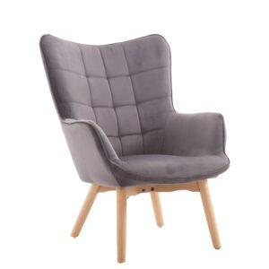 Πολυθρόνα σαλονιού σε γκρι χρώμα