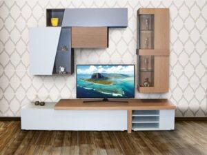 Σύνθεση tv σε δρυ με λάκα